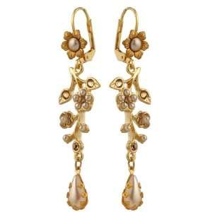 Unique and Feminine 24Karat Gold Plated Dangle Earrings by