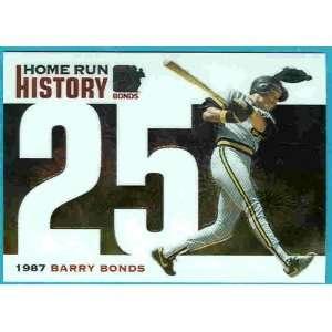 Bonds Home Run History 25 Barry Bonds San Fran