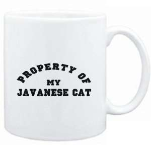 Mug White  PROPERTY OF MY Javanese  Cats Sports