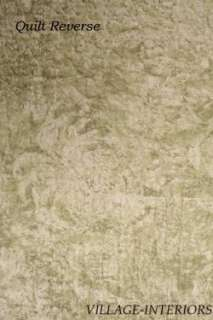 SAGE GREEN ASIAN TOILE & BAMBOO PRINT 4pc KING COTTON QUILT, SHAMS