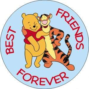 Friends Tigger & Pooh Best Friend Forever Button Pin