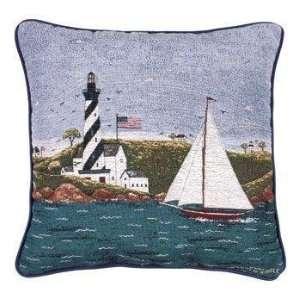 Coastal Breeze Decorative Tapestry Toss Pillow