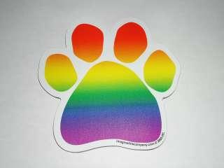 Paw Print Rainbow Magnet (Greyhound Rescue)