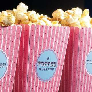 53Ct. Personalized Popcorn Topped with Love Wedding Favor Stickers