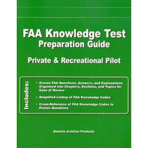 Guide Private & Recreational Pilot Batavia Aviation Products Books