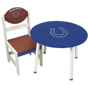 Indianapolis Colts Nfl Childrens Wooden Table (23(Dia)X17)