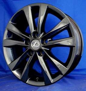 OEM LEXUS ES350 17 BLACK CHROME WHEELS 74224 OUTRIGHT