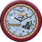 Personalized Precious Planet Animals Nursery Baby Clock items in Jack