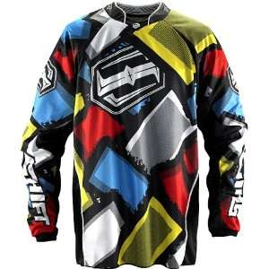 Shift Racing Faction Get Happy Mens Off Road Motorcycle Jersey   Blue