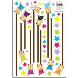 Cute Bears Nursery/Kids Room Wall Sticker Decal (Glow in