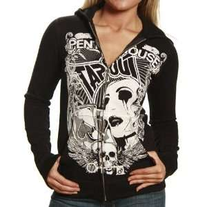 Ladies Black Penthouse Full Zip Hoody Sweatshirt