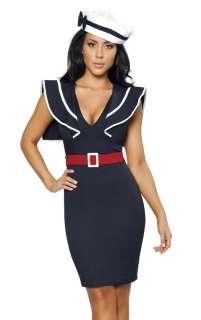 Sexy Womens Navy Sailor Pin Up Girl Halloween Costume 843952012703