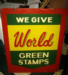 STAMP GROCERY FOOD ART ADVERTISING METAL GENERAL STORE USA SIGN