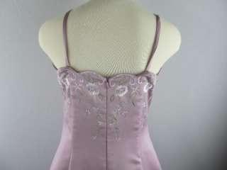 Da Vinci Plum Purple A  Line Gown Prom Bridesmaid Sample Dress size 12