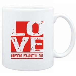 Mug White  LOVE American Polydactyl  Cats