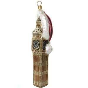 Polonaise Big Ben Christmas in London Glass Ornaments