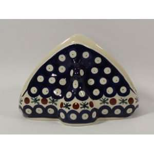 Polish Pottery Napkin Holder Old Poland wz998 11: Home