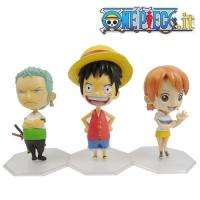 3x Cute Anime ONE PIECE Luffy/Zoro/Nami 10cm Figure