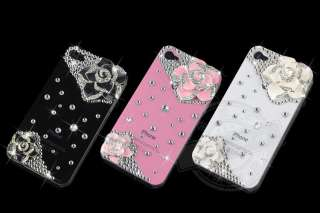 Rhinestone Crystal Hard Case Cover iPhone 4 4G 4S S Pink A