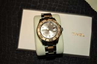 YACHTMASTER TWO TONE 18K GOLD AND STAINLESS BOX AND PAPER F SERIES