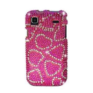 Sparkling Hot Pink with Silver Heart Design Full Diamond