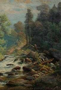 HUGE CARL PHILIPP WEBER LISTED AMERICAN ANTIQUE HUDSON RIVER SCHOOL