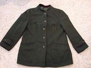 Peterman Co. Womens L Green Wool Dress Coat Jacket