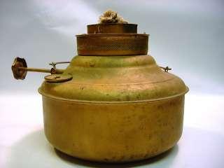 Antique Brass Kerosene Burner Lamp PERFECTION Room Heater Spreader