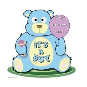 Its A Boy Teddy Bear 40 x 39 Print Stand Up
