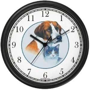 Dog & Cat   Best Friends Wall Clock by WatchBuddy