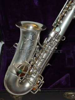 Sons silver plated curved Soprano Saxophon ** Music Oldtimer