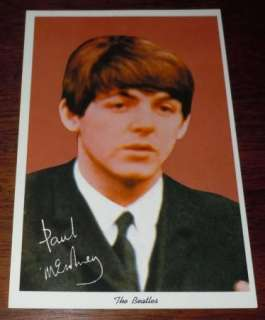 Paul McCartney Beatles Postcard 1964 News Enterprises Mint