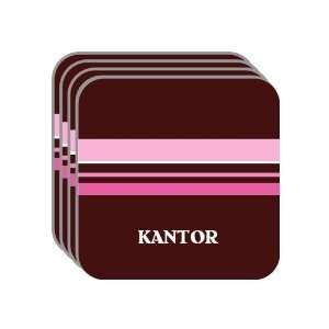 Personal Name Gift   KANTOR Set of 4 Mini Mousepad Coasters (pink