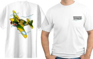 RC P 40 Fighter Airplane T Shirt 4172 war plane
