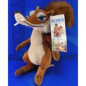Ice Age 3 Squirrel SCRATTE Plush NWT Cute 9 100% Toys & Games