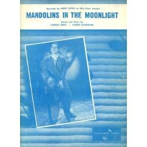 In the Moonlight Vintage 1958 Sheet Music Recorded by Perry Como