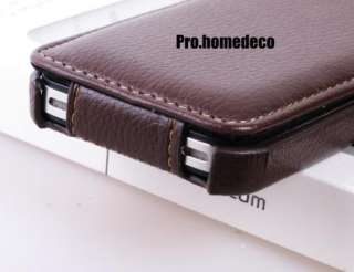 Premium Luxury Hand made Leather Flip case cover for iPhone 4 4S
