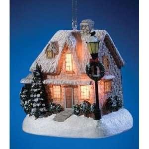 Thomas Kinkade Christmas Eve Cottage Ornament   1991