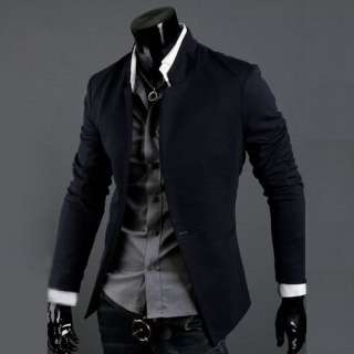 New Mens Casual Slim Sexy Blazer Fit One button Suit Top Dress Jacket