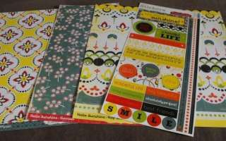 Cosmo Cricket Hello Sunshine Paper and Sticker Pack   KT14