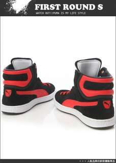 BN PUMA Unisex First Round Suede Red White Shoes #P17