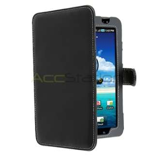 For Samsung Galaxy Tab P1000 7 Black Folding Leather Carry Case Folio