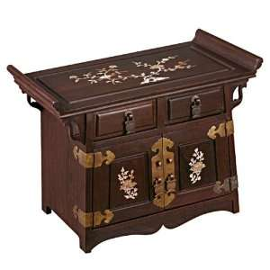 EXP Handmade Mother Of Pearl & Wood Jewelry Box   Chinese