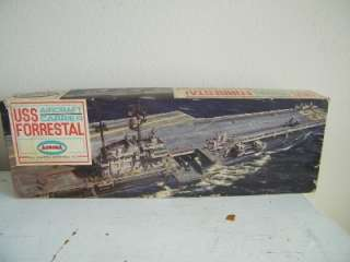 Aurora USS Forrestal Aircraft Carrier Model Kit Vintage 5971 1970s