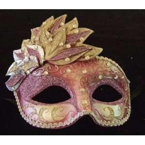 Mask Plum & Silver Mardi Gras Venetian Costume