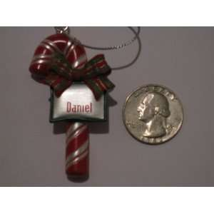 Candy Cane Ornament With Name of Daniel