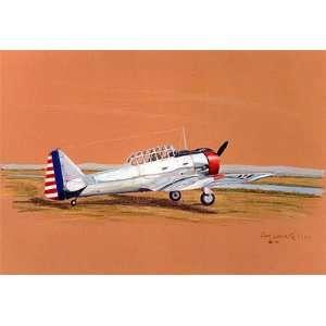AT 6   Sam Lyons   AT 6 Texan World War II Aviation Art