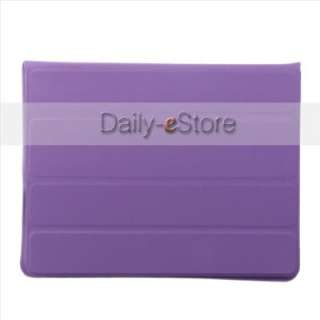 Magnetic Smart Cover Leather Case Rotating Stand for iPad 2 The new