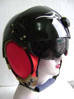 Daniels Black Air Jet Fighter Pilot Helmet FREE Shipping Worldwide