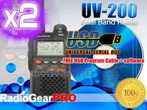 UV 200 BAOFENG mini dual band radio FREE USB cable